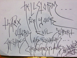 Hellstorm- Thanx for your utterly evil support. Greetings and Felicitations. Carniverously Yours, Belathauzer.
