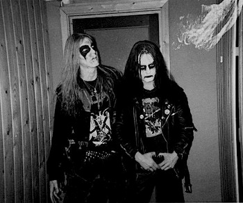 Dead (left) and Euronymous