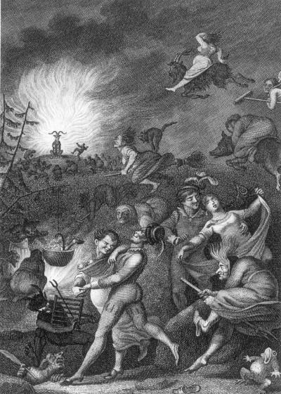 Walpurgisnachtszene aus Faust 1 by Johann Heinrich Ramberg (1829)