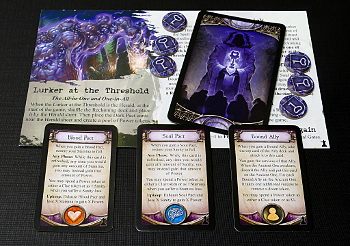 Herald card, Dark Pact cards, Reckoning cards and Power tokens